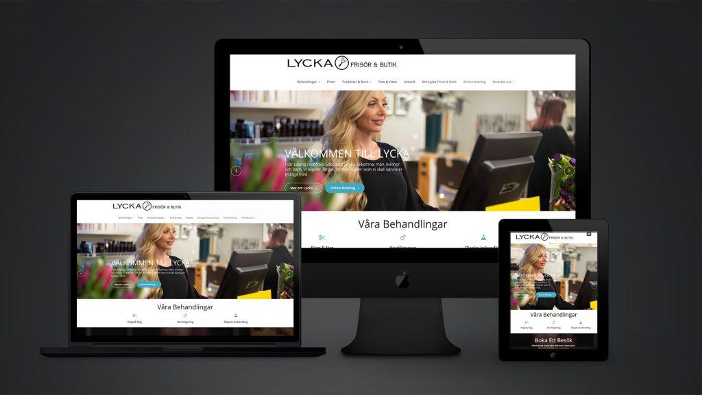 Lycka Frisör och Butik ny webbplats